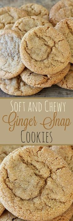Soft and Chewy Ginger Snap Cookies , Recipe Treasures (Creative Baking Recipes) My Recipes, Baking Recipes, Sweet Recipes, Favorite Recipes, Recipies, Köstliche Desserts, Delicious Desserts, Dessert Recipes, Yummy Food