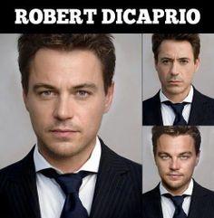 Robert DiCaprio - Leonardo DiCaprio and Robert Downey Face Blend Morph ---- hilarious jokes funny pictures walmart humor fails
