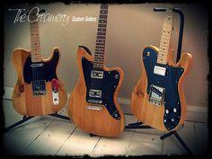 "Creamery Custom Reclaimed Pine ""Blackguard"" Series of Handmade Guitars"