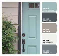 Instantly turn any picture into a palette with ColorSnap, created for you by Sherwin-Williams. Front Door Paint Colors, Exterior Paint Colors For House, Painted Front Doors, Paint Colors For Home, Outside House Paint Colors, Exterior Paint Schemes, Blue Front Doors, Beige House Exterior, House Shutter Colors