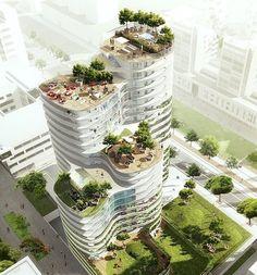 "1,592 Likes, 23 Comments - Future Architecture (@future.architects2050) on Instagram: ""Housing Units in Nantes Winning Proposal / Hamonic + Masson Designed by Hamonic + Masson, their…"""