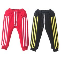 KZ-01, winter children pants, girls boys trousers, casual side stripe sport trousers, plus thick flannel lining