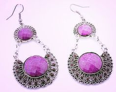 Hey, I found this really awesome Etsy listing at https://www.etsy.com/listing/195499156/silver-exquisite-purple-beaded-and