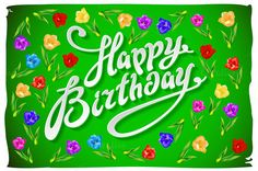 vector Birthday Card flower by Rommeo79 on @creativework247