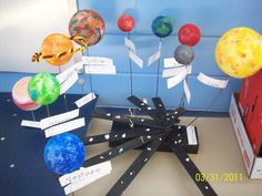 Grade Solar System Project (use rotation concept) Science Fair, Science Lessons, Science For Kids, Science And Nature, Science Space, 4th Grade Science Projects, School Projects, Science Classroom, Teaching Science