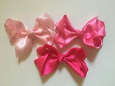 Satin Hair Bows!Flower girl, Holiday, Dance Hair Bows,Pink,Hot Pink, Ivory,White,Royal,NavyTurquoise,Burgundy,Purple,Lavender,Grey Hair Bow by FancyGirlBoutiqueNYC on Etsy