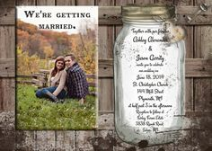 @Janie Fertig this is one of the invites that we really liked. We would order the digital file through the seller on Etsy, and get it in PDF form. We would then get it printed somewhere. Rustic Wedding Invitation printable you print by OldOwlPress, $15.00