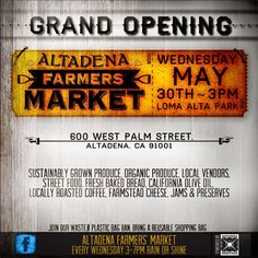 Join us at the Altadena Farmers Market every Wednesday from 3-7! #locallove #supportyourfarmers