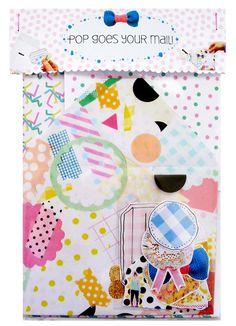 Pop Goes Your Mail: Letter Art Kit. $18.00, via Etsy. By Jenna Templeton