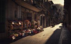 Alley in Soller - An alley in beautiful Soller, Majorca.