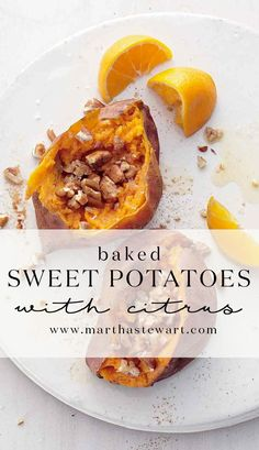 Baked Sweet Potatoes with Citrus | Martha Stewart Living - Detox Cred ...