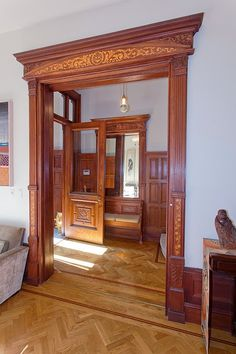 New York Brooklyn brownstone Victorian foyer http://victoriangothicinterior.blogspot.com/2013_10_01_archive.html