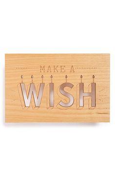 Cardtorial 'Make a Wish' Wood Greeting Card