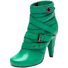 Postman's Lock Ankle Boot Bright Cabbage Soft Spongy ($525) ❤ liked on Polyvore featuring shoes, boots, ankle booties, heels, zapatos, green, high heel boots, leather ankle boots, leather booties and high heel ankle boots