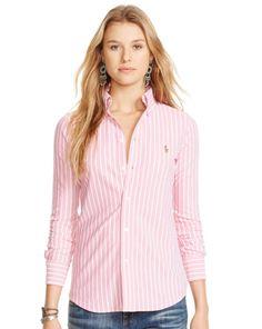 Striped Knit Oxford Shirt - Polo Ralph Lauren Fresh Picks - RalphLauren.com