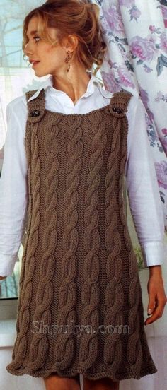 Knit Skirt, Knit Dress, Crochet Woman, Knit Crochet, Cozy Fashion, Embroidery Fashion, Dress Patterns, Knitwear, Casual Outfits