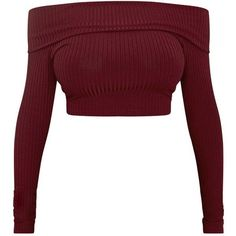 Shape Chastity Burgundy Ribbed Bardot Top ❤ liked on Polyvore featuring tops, shirts, crop top, blusas, white ribbed shirt, rib top, rib shirt, burgundy shirt and shirt top