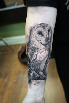 Owl Tattoo.  -- would expect no less of perfection than this on my owl tattoo.