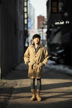 vintage shoes and coat, street style of seoul, fashion blogger