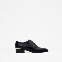 Image 1 of FLAT LACE-UP SHOES from Zara