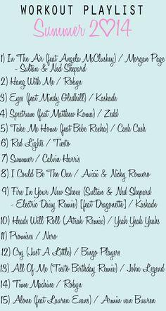 Workout Playlist - Summer 2014