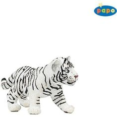 Papo: White Tiger Cub by Papo. $2.22. 2.8 in x 1.2 in x 1.4 in. The Papo toy line features beatifully crafted figurines and animals. Papo toys come in a wide variety of colors, all hand painted and bursting with imagination. We carry a wide selection for hours of play. Scale 1:20 True to life modeling. Meticulously hand painted figurines.