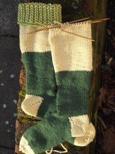 Boot Socks as WIP // seriously have to learn how to knit socks!!