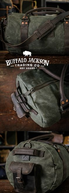f1fe2bf42601 Elkton Waxed Canvas Travel Duffle Bag