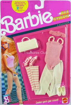 Barbie All Stars Fashions 2610 New Never Removed from Pack 1989 Mattel Inc 3 | eBay