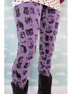 Violet Kitty Leggings from PRETTY SNAKE