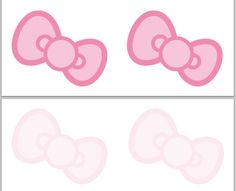 Hello Kitty Head Clip Art | These are designed to print onto those print-your-own post card sheets ...