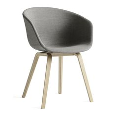 Inject modern design into any interior with this About A Chair AAC23 chair from HAY. Sturdy polypropylene forms a seat topped with synthetic foam and upholstered in chic light grey tones. Four complem