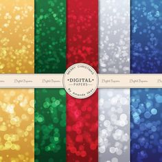 Premium Christmas Bokeh Digital Papers for by AmandaIlkov on Etsy