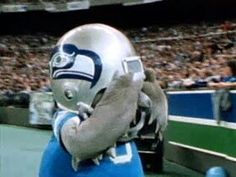 Old mascot seattle seahawks