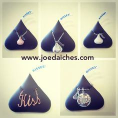 New Hershey's Kiss necklaces.  Hershey's Kiss jewelry at Joe Daiches Jewelers a jewelry store located in Fort Worth since 1929.  www.joedaiches.com