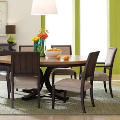 Round Dining Table Top In Natural @HGTV HOME Furniture.com