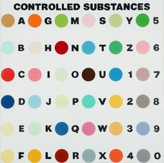 Damien Hirst, 'Controlled Substance Key Painting,' 1993-1994, Gana Art