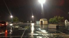 Portable building and tree damage at the Lowe's off i240/santa fe #okwx