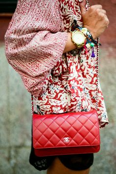 Iconic Bags: Classic Red Chanel.