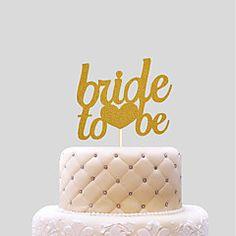 Cake+Topper+Wedding+Hearts+Paper+Wedding+With+PVC+Bag+Wedding+Reception+–+USD+$+3.98