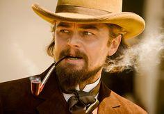 leonardo dicaprio, django unchained, film still, pipe, smoke, western, quentin tarantino