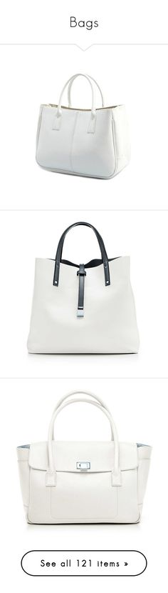 """Bags"" by luciaborrayo on Polyvore featuring bags, handbags, tote bags, tote handbags, white tote purse, tote hand bags, white tote bag, white handbag, purses y man bag"