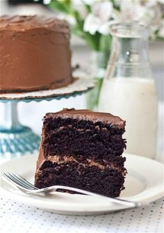 "Beatty's Chocolate Cake by Ina Garten. Superb! Baked in 9"" pans and wasn't high enough to split horizontally in 2. I had wanted to make a 4 layer cake,"