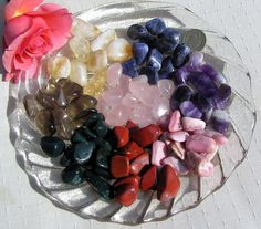 Chakra Set  Two of Each Crystal Tumblestones  by SunnyCrystals, $12.00