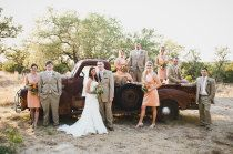 Ah love this - I really want an antique truck like this on my wedding day to take pictures by!
