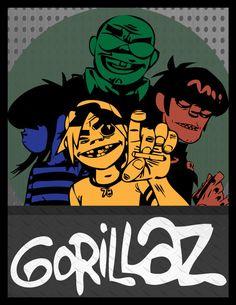 Resultado de imagen para gorillaz poster