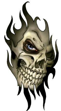Skull tattoo design Tattoo design for men and Skull tattoos on . Evil Skull Tattoo, Skull Tattoo Design, Skull Design, Skull Tattoos, Dragon Tattoos, Trible Tattoos, Maori Tattoos, Wolf Tattoos, Finger Tattoos
