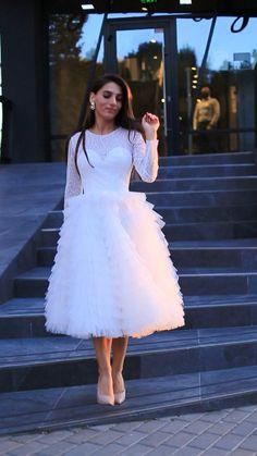 Stylish Dress Designs, Stylish Dresses, Fashion Dresses, Civil Wedding Dresses, Bridal Dresses, Prom Dresses, Pretty Dresses, Beautiful Dresses, Elegant White Dress