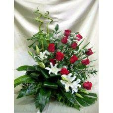 Centro Regalo de Flores Naturales ref 4