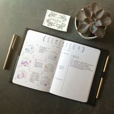 Stellar Semester Bullet Journal Spread by Maren on Bullet Journal for Students FB Group